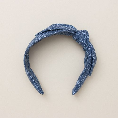 Indigo Dot Headband