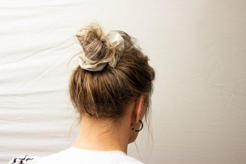 scrunchie modelled