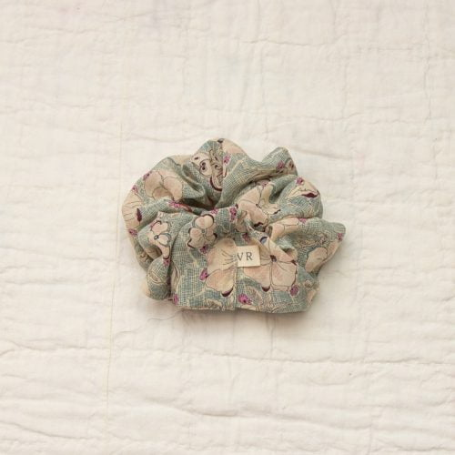 liberty silk scrunchie
